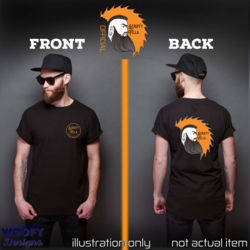 Scruffy Fella - Front + Face Logo - Back - Black Thumbnail