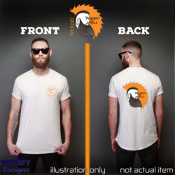 Scruffy Fella - Front + Face Logo - Back  - White Thumbnail